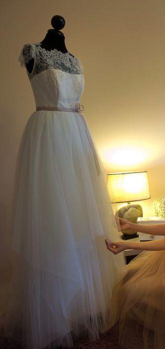 Rochie de mireasa tull, casa de moda Innocenti Sposa M 38
