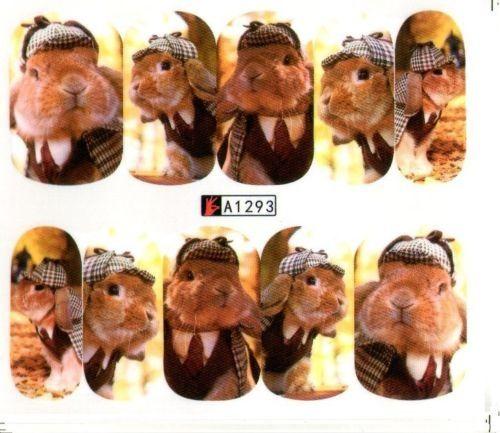 NOU***Abtibilduri unghii (stickere) cu animale***