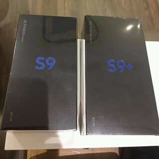 Samsung galaxy S9 and S9 plus selados