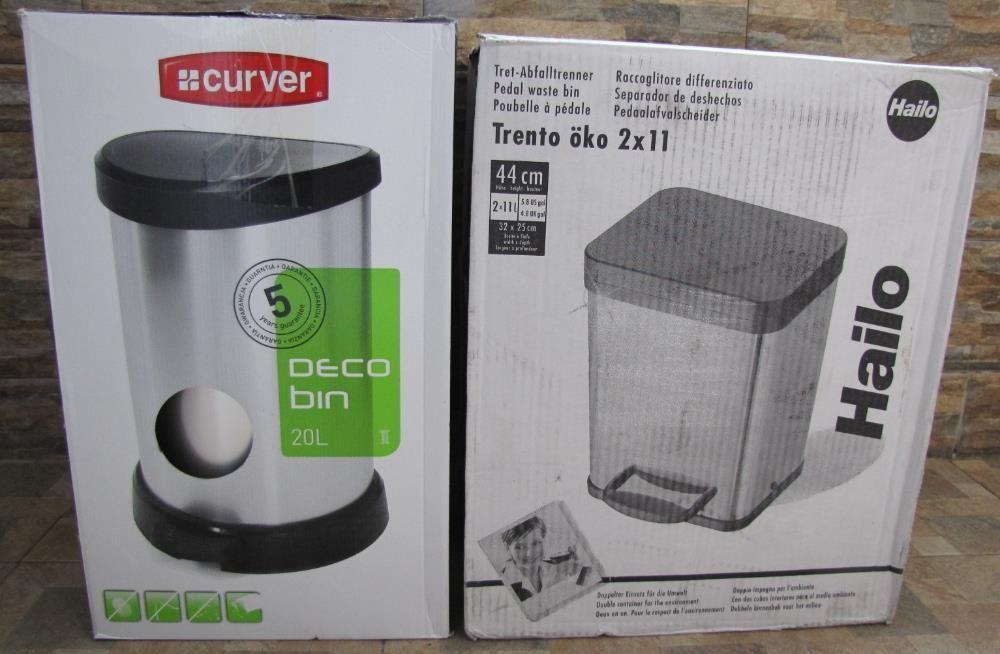 Нови Кошчета за отпадъци: Curver, 20л; HAILO Trento 0622-110, 2 x 11 л
