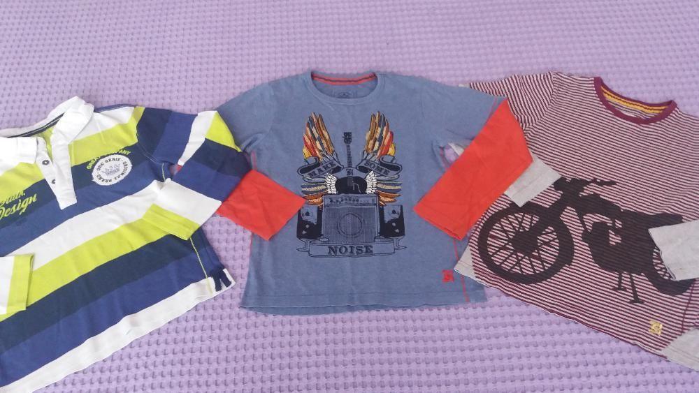 три памучни модерни блузи за 5-6 годишно хлапе -28лв.