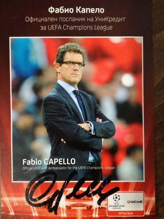 Фабио Капело - карта с автограф