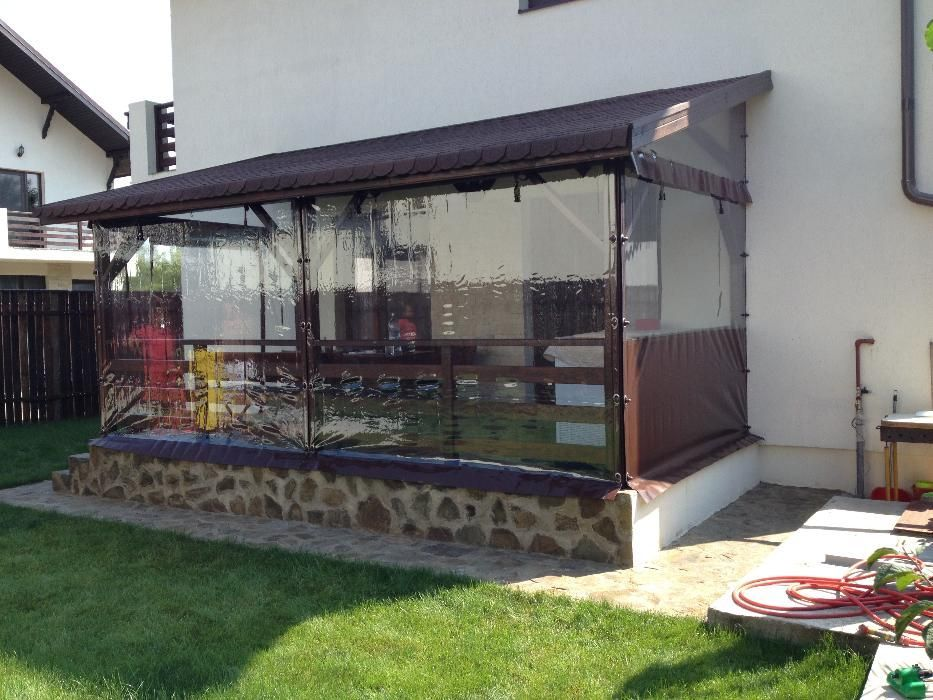 Prelate transparente/Folie inchideri terase/Rulouri din aluminiu/Folie