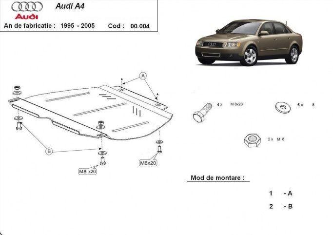 Scut cutie de viteze Audi A4 1995- 2005 - otel 2mm