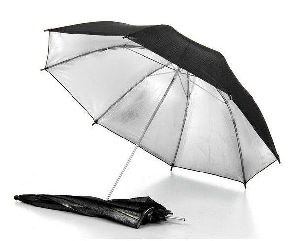 Umbrela foto silver - black ,91 cm, 102 cm, 110 cm, noi, factura.
