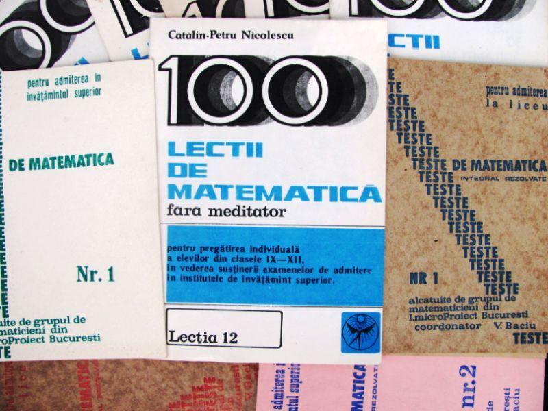 Lot 11 reviste cu Lecţii şi Teste Matematica (1990)