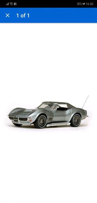 Метална количка , модел Chevrolet Corvette C2 1/43 нова