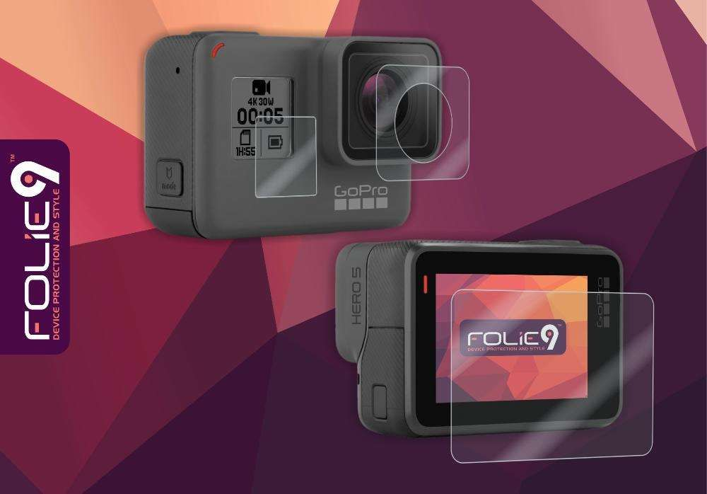2 x Set Folie Prot. GoPro Hero 5, 6, 7, Display 1, Display 2, Obiectiv