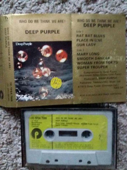 "Deep Purple - caseta audio originala veche ""Who do you think we are !"""