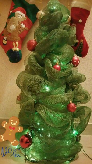 Fundă decorativă,brăduț birou Crăciun