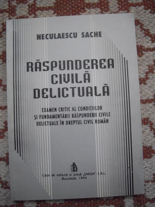 "Vand cartea ""Raspunderea Civila Delictuala"""