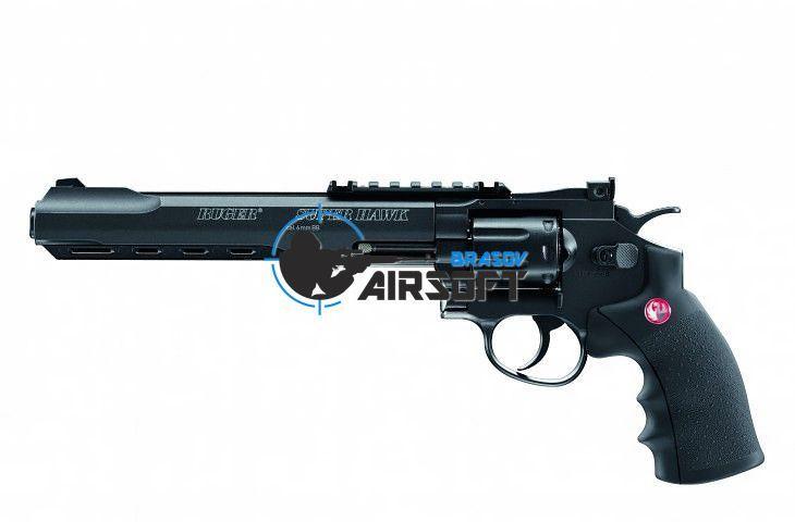 Pistol Airsoft- Revolver Ruger SuperHawk 8i CO2 4,joule