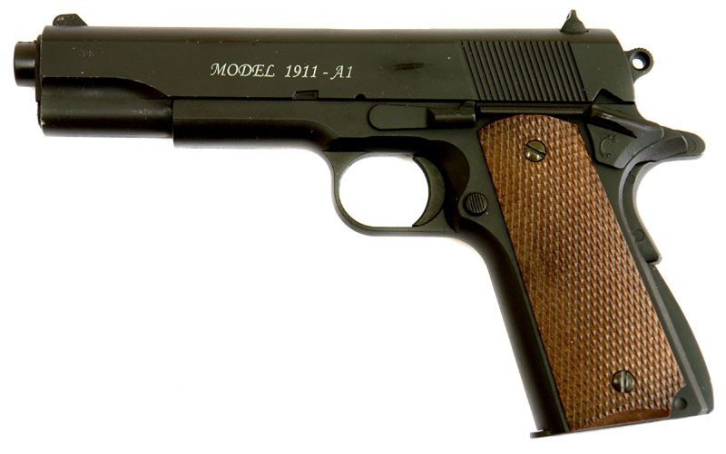 Colt 1911A1 Spring FULL METAL pistol airsoft 6mm +1000 bile CADOU