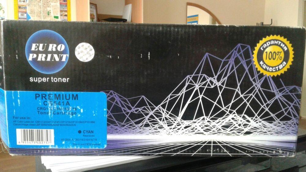 Картридж CB541А для лазерного принтера цвет голубой