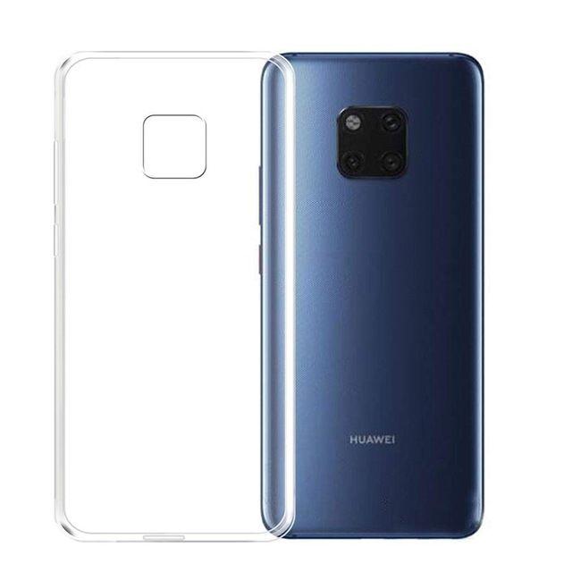 Husa Subtire Silicon Neagra, Transparenta - Huawei Mate 20 Lite 20 Pro