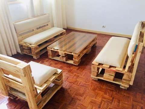 Sofas de madeira pallet