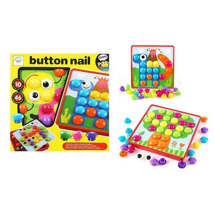 """Мозаика """"Пуговицы"""" Button Nail, Art Idea, развивашки игрушки"""