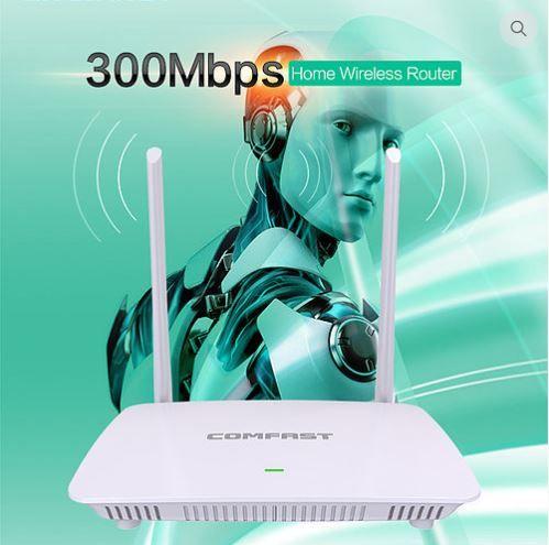 Roteador e repetidor Wifi sem fios 300 Mbps COMFAST WR625N V2 1WLAN+4L