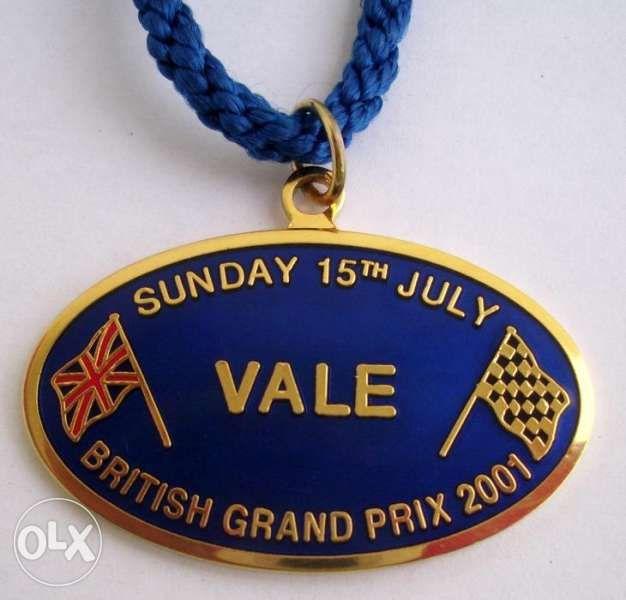 Формула1 Силвърстоун 2001 бадж-медальон