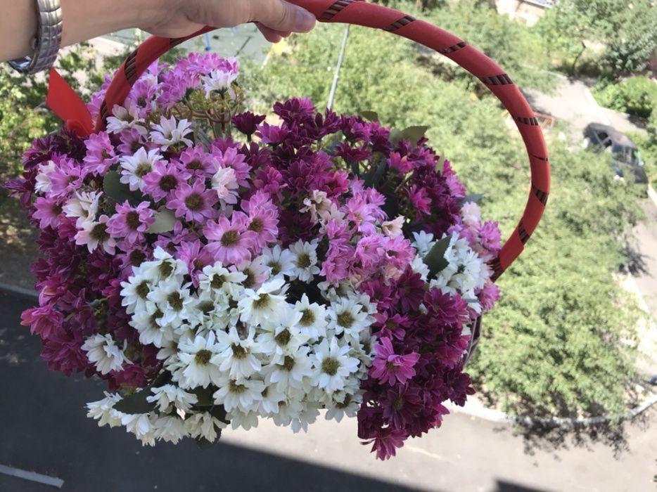 Цветы для вашего интерьера в корзинке
