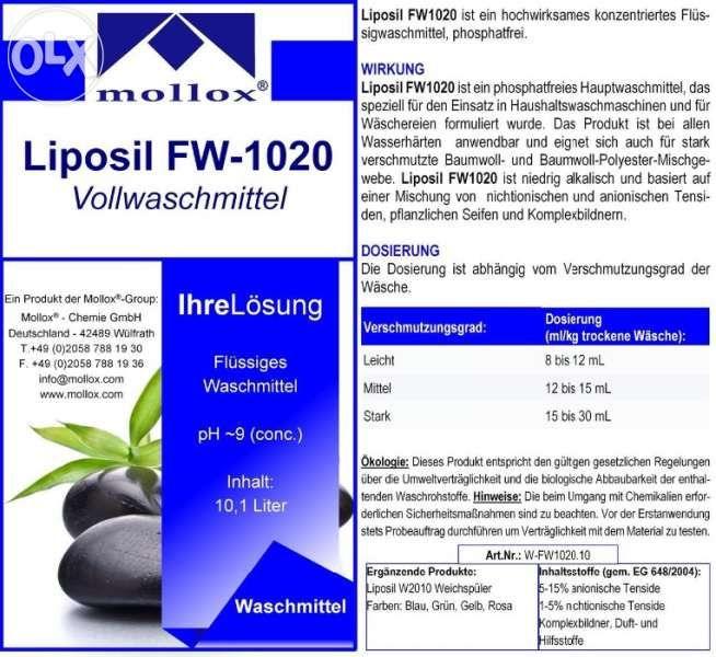 Течен прах /гел за пране/ внос от Германия 5 литра