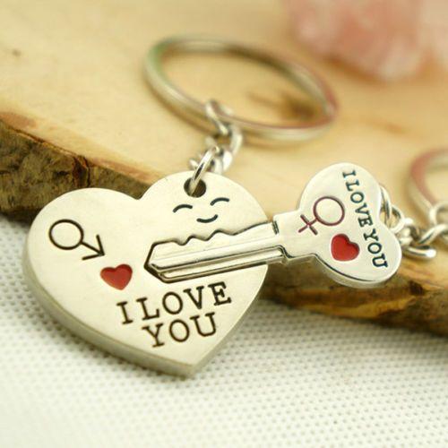Ключодържател сърце и ключ от него влюбени двойки