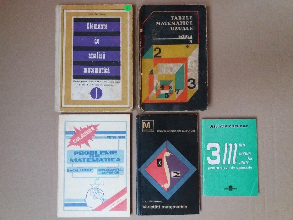 Carti de specialitate - matematica, culegeri