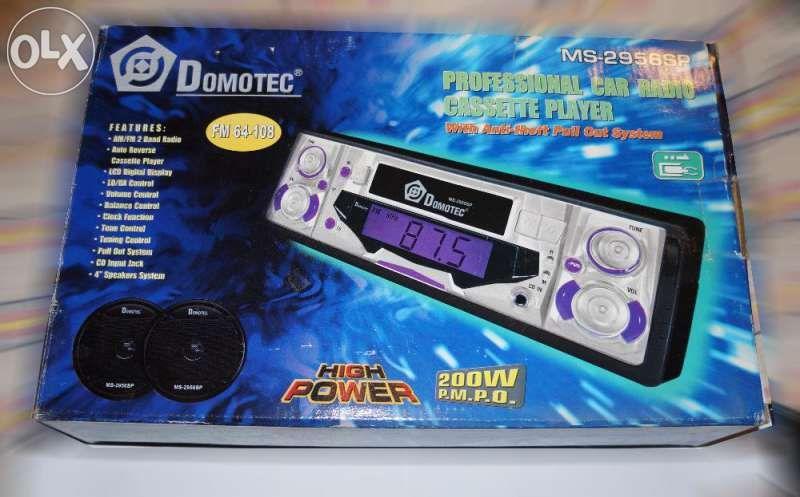 НОВ автокасетофон (+ говорители) Domotec MS - 2958SP