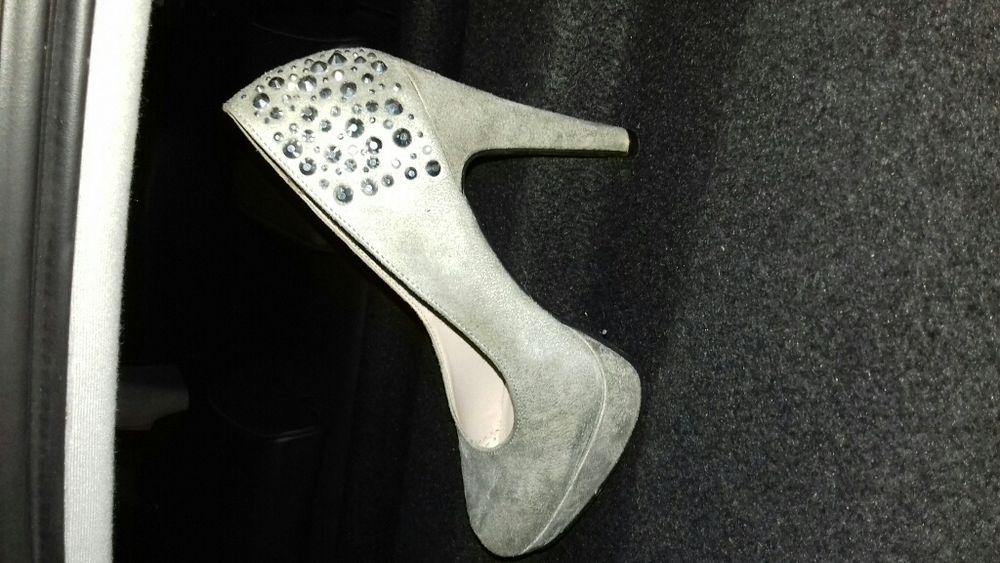 Pantofi damă, de piele, cu toc măr. 38 fashion Revelion