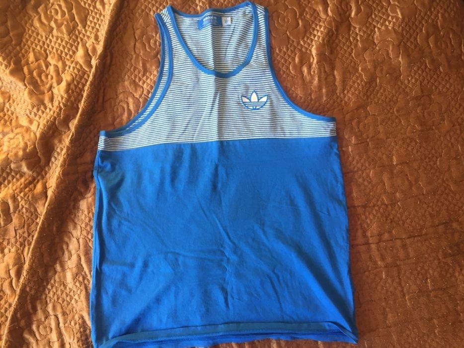 Синяя майка оригинал Adidas Originals