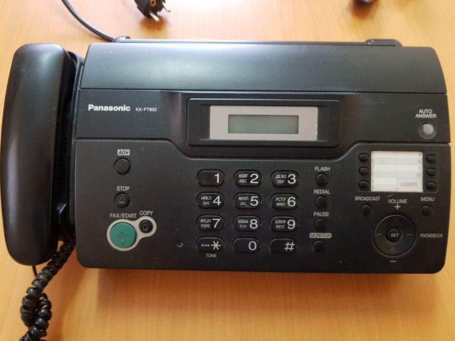 Факсимильный аппарат PANASONIC KX-FT 932, на рулонной термобумаге