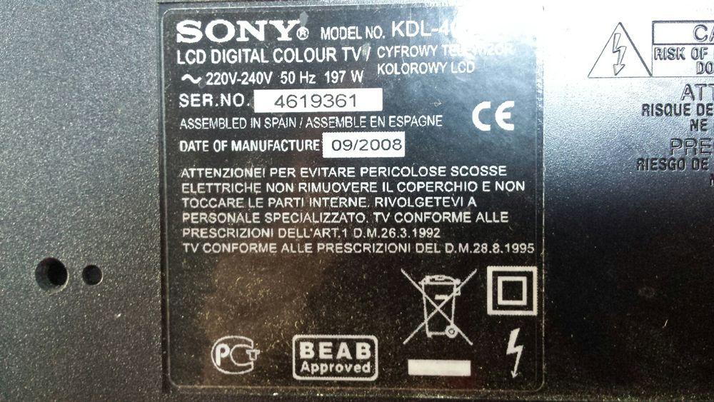 Dezmembrez Tv SONY KDL-40S4000