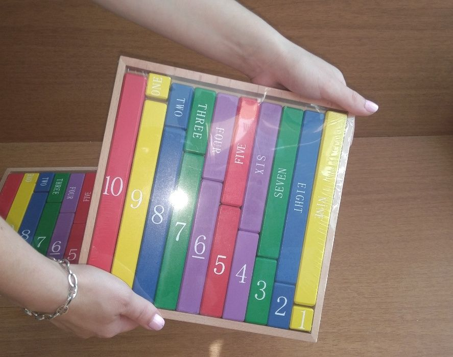 Монтесори Дървени Числови Летви синьо-червени пръчки стикове гр. Бургас - image 10