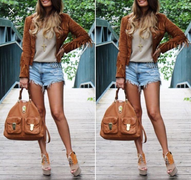 Стильная замшевая куртка-косуха Zara