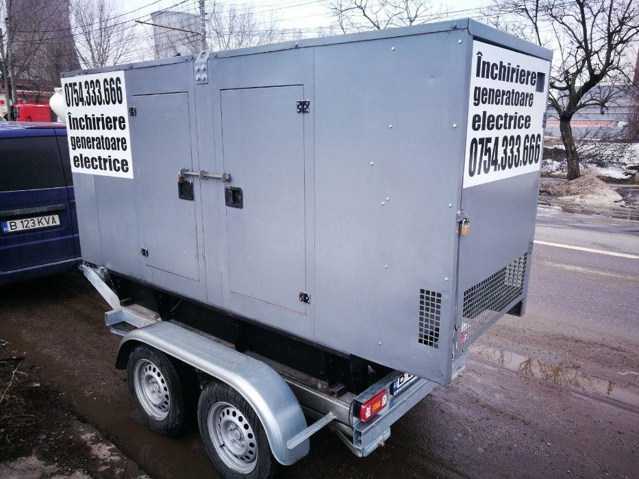 Inchiriere generator (grup electrogen) 100KVA (putere 80Kw) trifazic