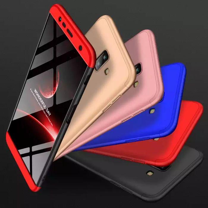 Кейс 360° Градуса Мат за Samsung Galaxy J4+ и J6+ Plus + стъклен проте