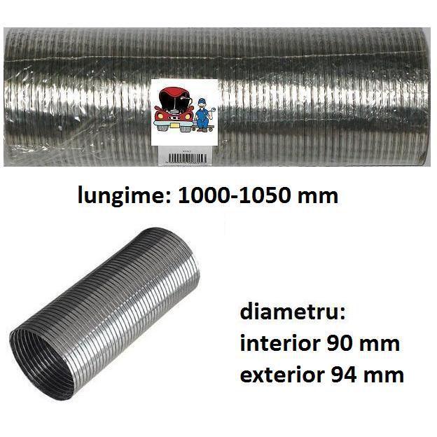 Racord flexibil esapament 100 cm   diametru int 90 /ext 94 mm   13851