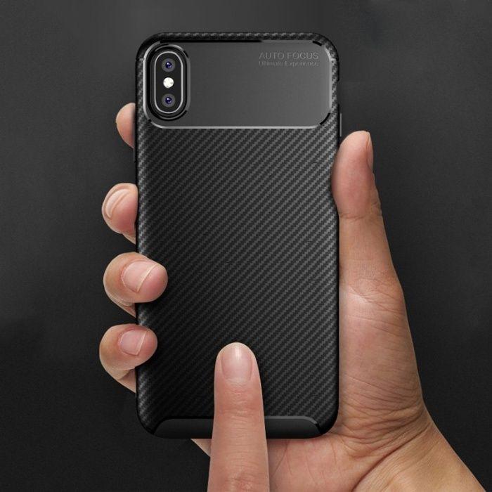 Iphone X XS 10 XR XS MAX - Husa Slim Auto Focus Din Silicon Neagra