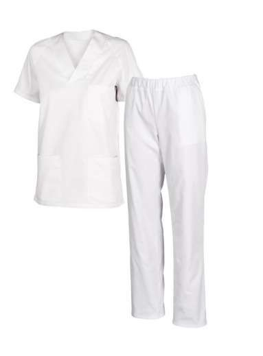 Túnica + calça=médicos,enfermeiros,padeiros,cozinheiros,limpeza,babas