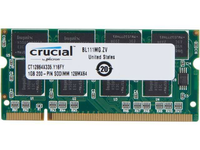 Memorie RAM Laptop 1Gb DDR 333Mhz PC2700 SO-DIMM Memory