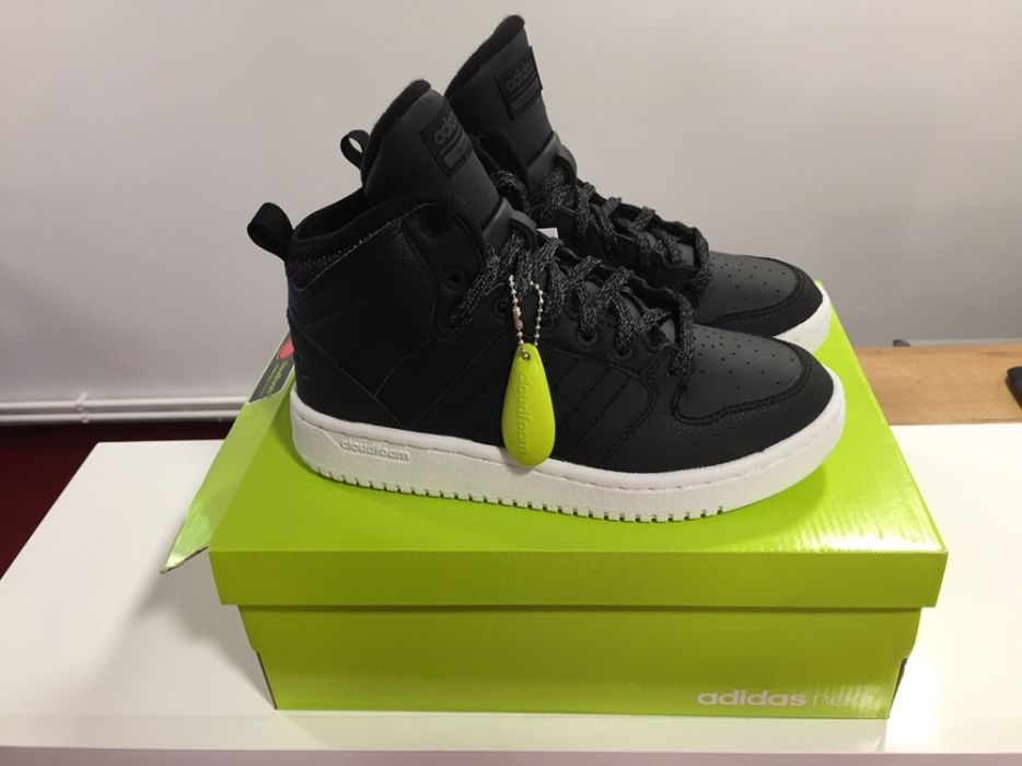 Adidas Cf Hoops Mid Wtr W Cod: BC0117 Noi Originali