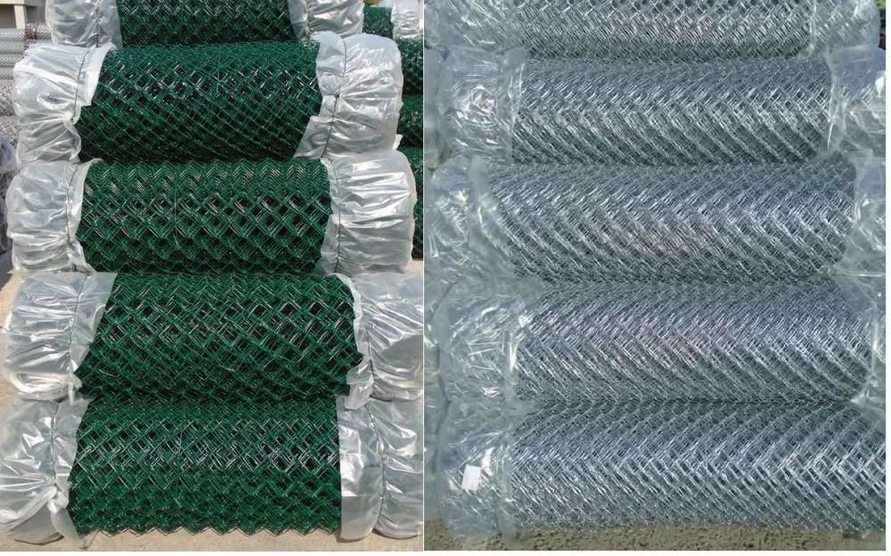 Plasa impletita zincata plastificata, stalpi zincati sarma tensionare