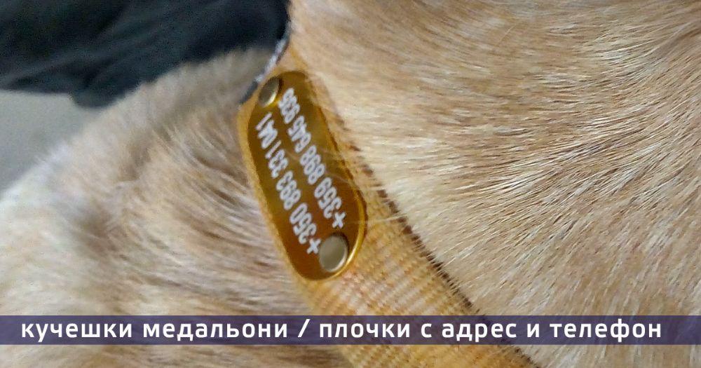 Медальони за кучешки нашийник 5лв, Плочки ловно куче, домашни любимц
