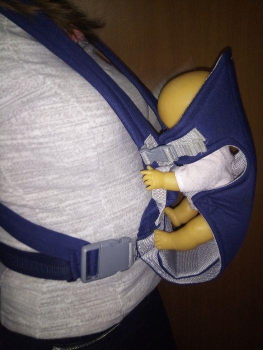Port bebe material textil, chingi reglabile pt bebe si purtator