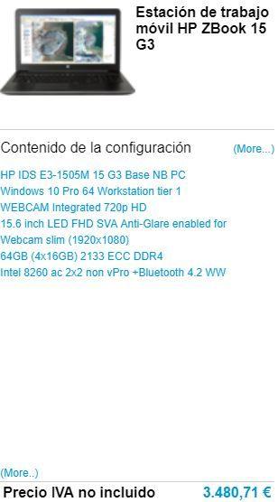 Staţie grafică mobilă HP ZBook 15 G3