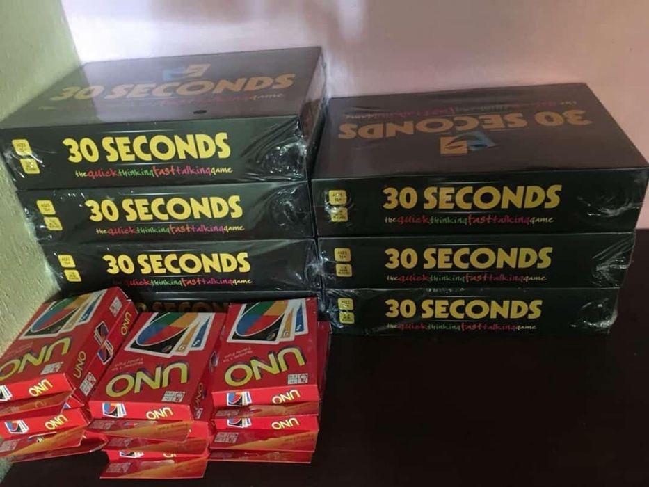 30 segundos + cartas uno
