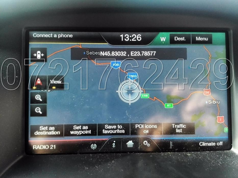 FORD Mondeo Focus S-Max Galaxy CMax SD CARD SYNC 2 EUROPA ROMANIA 2017