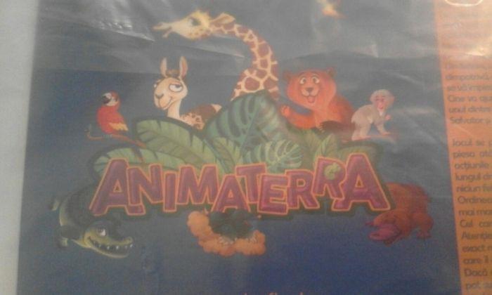 Joc educativ Nou Animaterra (gen Piticot)afis cu traseu, 4pioni si zar