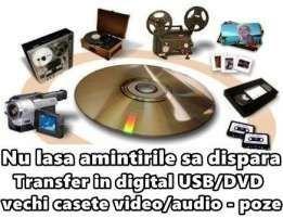 7 lei transfer casete video pe Dvd- Bluray
