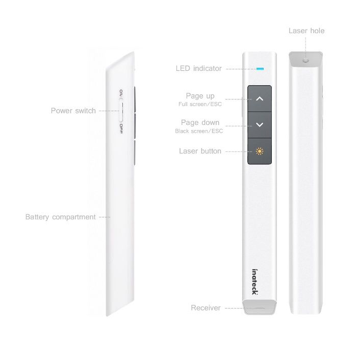 Laser Pointer Inateck Wp1004-w - Windows & Mac